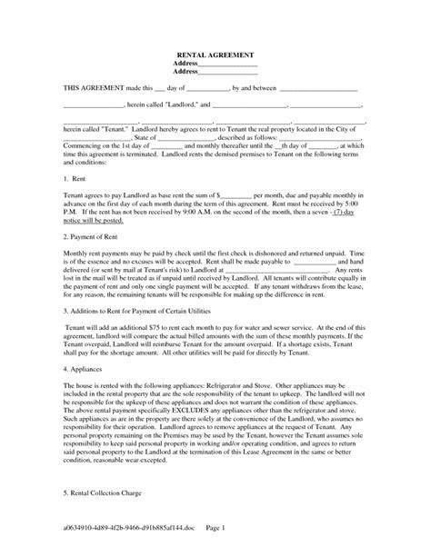 leaseback agreement template standard editable rental lease agreement exle with