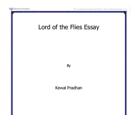 symbols in lord of the flies pdf symbolism in lord of the flies gcse english marked by