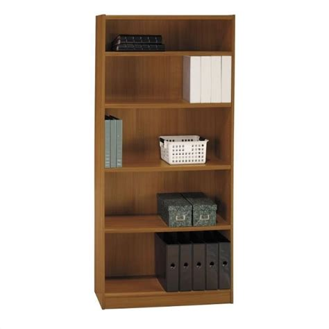 bush universal 5 shelf 72 bookcase bush universal 72 quot h 5 shelf wood bookcase in royal oak