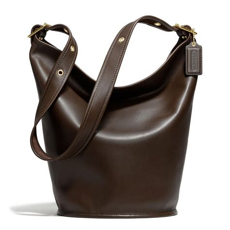 Coach Htons Leather Purse by Coach Coach Classic Duffle In Leather Brass Mahogany