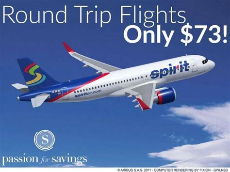 spirit airlines flights only 73 trip