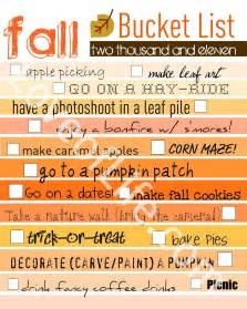 loves of life fall bucket list and a printable because i
