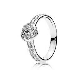 Sparkling love knot clear cz 190997cz rings pandora