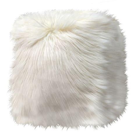 faux fur pouf ottoman threshold white faux fur pouf target