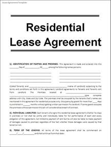 lease agreement template real estate forms