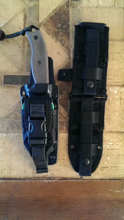 esee 5 molle back and pouch gear upgraded molle back and accessory pouch for esee 5