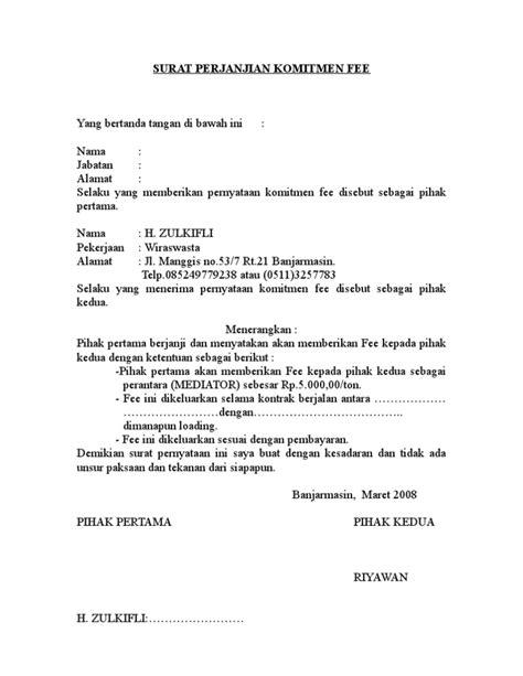 contoh surat kuasa jual beli saham fontoh surat perjanjian komitmen fee1