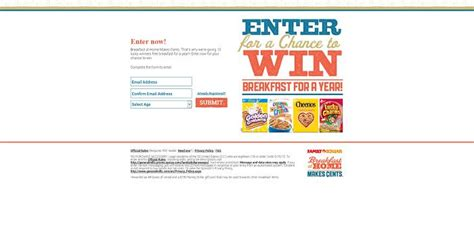 Sms Sweepstakes - family dollar sms sweepstakes win breakfast for a year