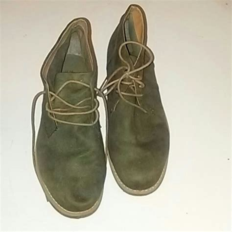 olive color boots h m h m suade shoes olive color size 10 5 like new from