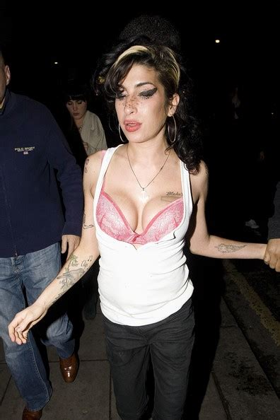 Winehouses Scarlet Nose Hints That Recent Troubles Are Taking Their Toll by Winehouse Leaves The Hawley Arms Zimbio
