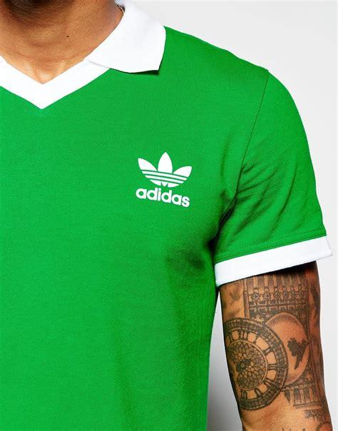Custom T Shirt Kaos Adidas Originals lyst adidas originals retro beckenbauer jersey polo shirt ab7467 in green for