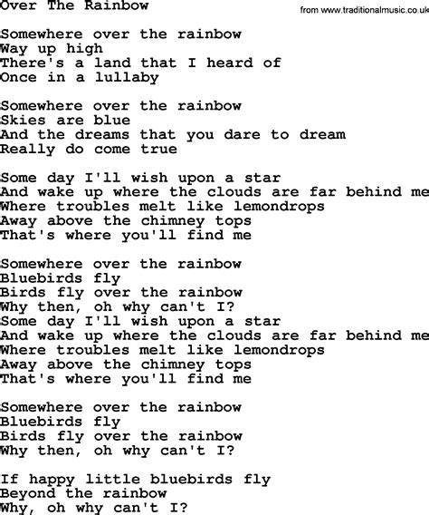 the song from somewhere image gallery over the rainbow song
