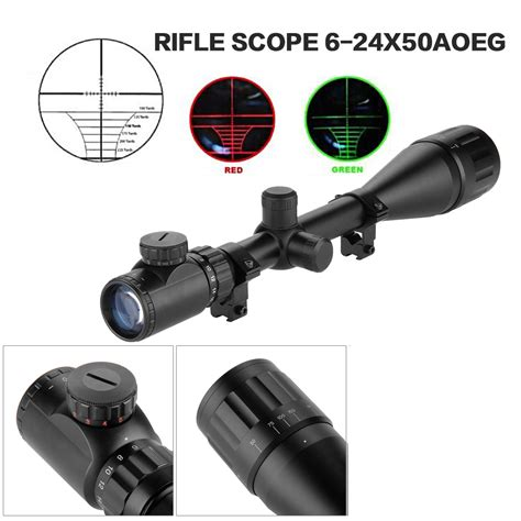 best lighted reticle scope 6 24x50 green illuminated optics air rifle gun