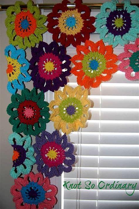 cenefas a ganchillo las 25 mejores ideas sobre cortinas de ganchillo en