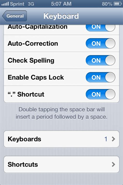 keyboard shortcuts for an iphone take permission