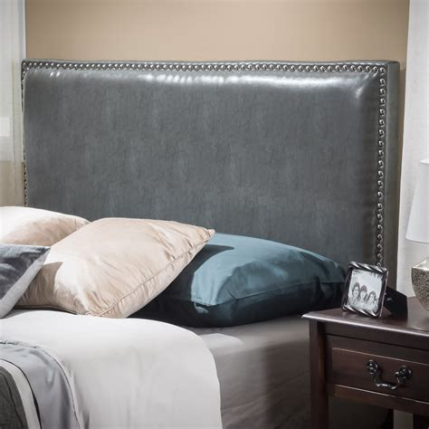 grey leather bed westin full to queen size grey leather headboard great