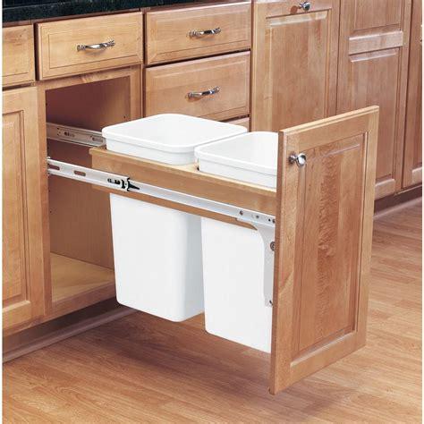 pull out garbage rev a shelf 17 75 in h x 12 in w x 24 5 in d double 27