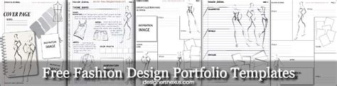 Free Templates Fashion Design Portfolio Layout Mood Board Templates Fashion Portfolio Template