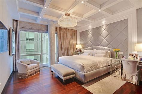 master bedroom ideas grey walls 10 beautiful bedrooms with crystal chandeliers housely