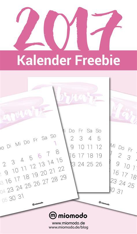 Druckvorlage Kalender 2017 Kalender 2017 Zum Ausdrucken Pdf Vorlage Miomodo Diy