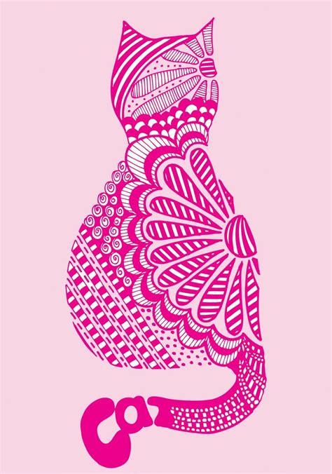 doodle pink 62 best cat zentangles images on print