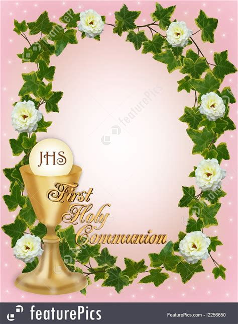 templates first holy communion invitation stock