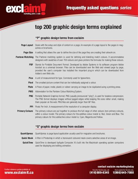 graphic design layout terms free top 200 graphic design terms reference guide