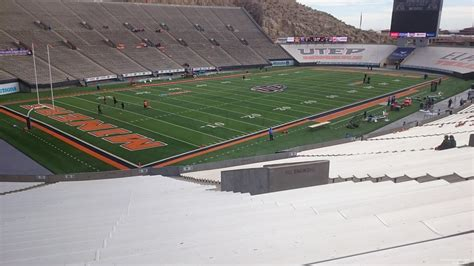 bowl section sun bowl section 10 utep football rateyourseats com