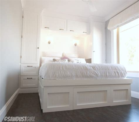 built in storage for bedrooms built in wardrobes and platform storage bed the sawdust diaries