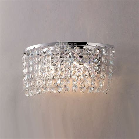 diyas il30052 cosmos 2 light chromecrystal wall light