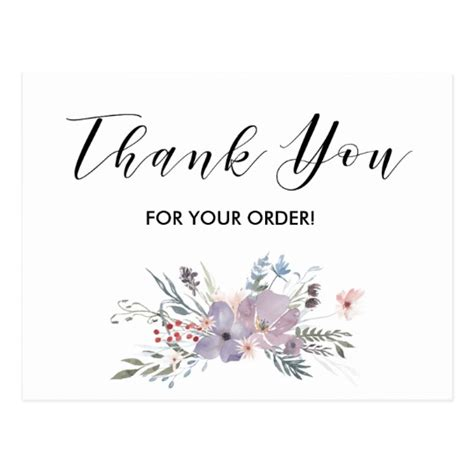 thank you for your order card template thank you for your order card zazzle
