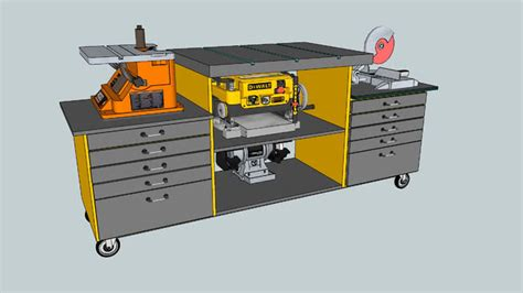 multi tool work table mobile benchtop multi tool workbench 3d warehouse