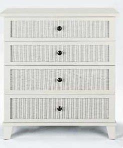 white rattan chest of drawers new white rattan front 4 drawer chest bedroom storage