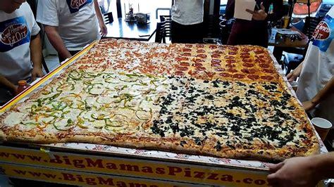 big mamas and papas pizza challenge 50 pound pizza challenge for 8 the big 54 at big