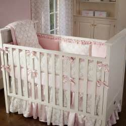 Baby Bedding Carousel Pink And Taupe Damask Crib Bedding Crib Bedding
