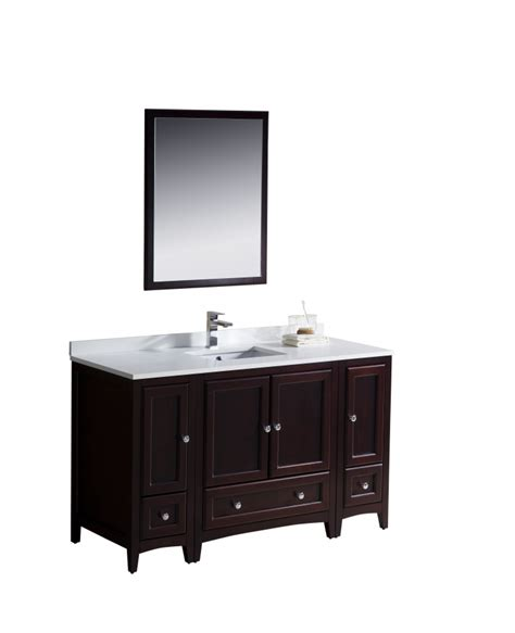 bathroom vanity 54 inch 54 inch single sink bathroom vanity in mahogany