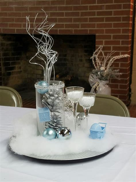 Winter Baby Shower Centerpieces by Winter Baby Shower Centerpieces Baby Shower Ideas