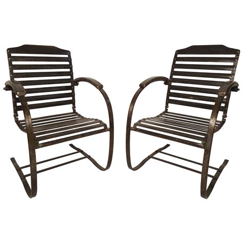 Springs For Chairs by Pair Of Vintage Metal Chairs For Sale At 1stdibs