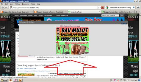 membuat iklan popup di website cara membuat iklan pop up di blog gerobak software