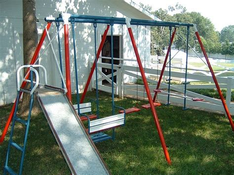 basket swing for swing set these swing sets the basket next to the slide was my