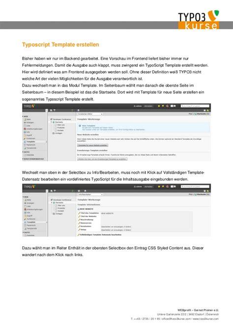 Typo3 Vorlagen Design Benutzen eine website in einer stunde mit typo3 bauen gernot ploiner