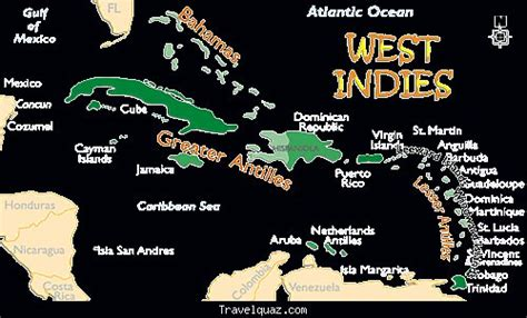 west indies political map map of west indies travelquaz