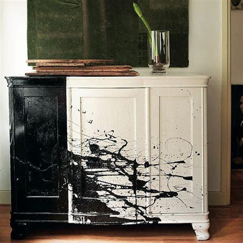 spruce up an of furniture with black and white