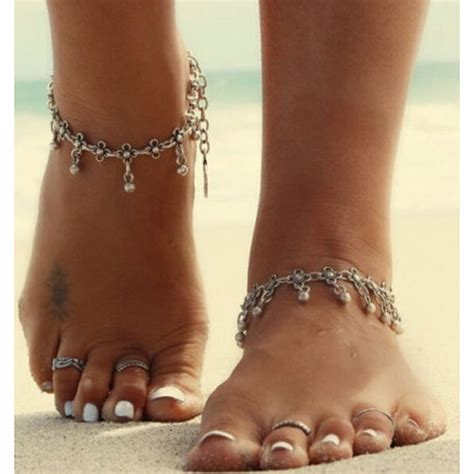 Dparis Anklet by Silver Gold Chain Anklet Bracelet Barefoot