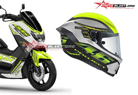 Striping N Max The Doctor modifikasi striping yamaha nmax white vr46 project green lime