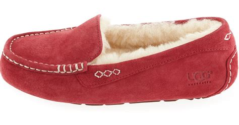 ugg moccasin slippers sale ugg ansley moccasin slippers in purple wine lyst