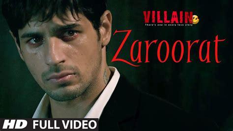 tattoo hd full video song zaroorat full video song ek villain mithoon mustafa