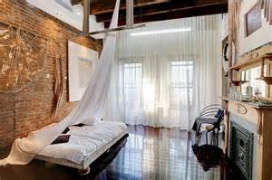 Curtains High Ceiling Decorating Industrial Loft Style Bedroom Design With High Ceiling And