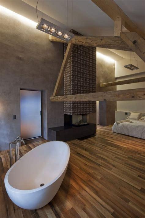umgebautes bauernhaus design mit modernem interieur  der