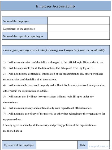 employee transfer form template sle employee accountability form sle forms